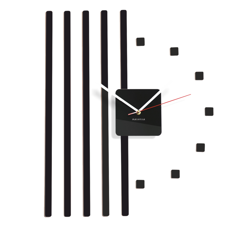 Modern Wall Clock Part - 50: Modern And Funky Wall Clock POINTS DIY. One Of The First FLEXISTYLE Design.  Absolutely Bestseller Clock For All Kind Interiors. Long Bars From One Side  And ...