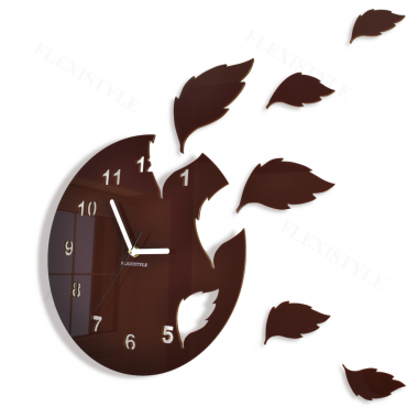 modern and funky wall clock wall clock leaves was inspired by autumn flying leaves ideally fits to classic interiors easy to install
